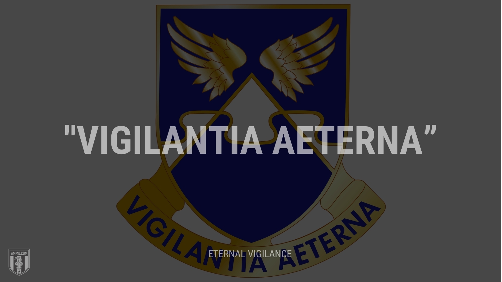 """Vigilantia aeterna"" - Eternal vigilance"