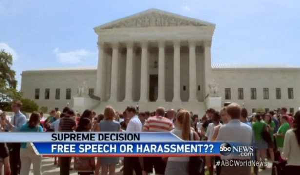06/29/2014: Media: Abortion Clinic Buffer Zones Protect Women from 'Violent,' 'Offensive' Pro-Lifers