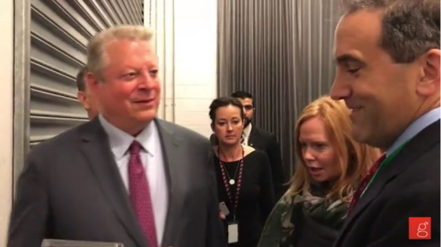 07/14/2017: After Climate Skeptic Offers Gore a Documentary, the Former VP Flees to Awaiting SUV