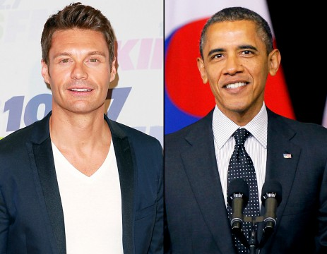 12/15/2014: Ryan Seacrest Serenades Obama with Mariah Carey's Christmas Song