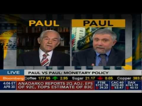 07/01/2012: KRUGMAN v. PAUL: Countering Rep. Paul, Krugman Says Only More Debt Will Boost U.S. Economy