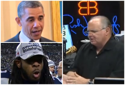 01/20/2014: Rush Limbaugh: Richard Sherman's Post-Game Rant Makes Him Just Like Obama